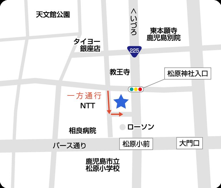 天文館店地図詳細