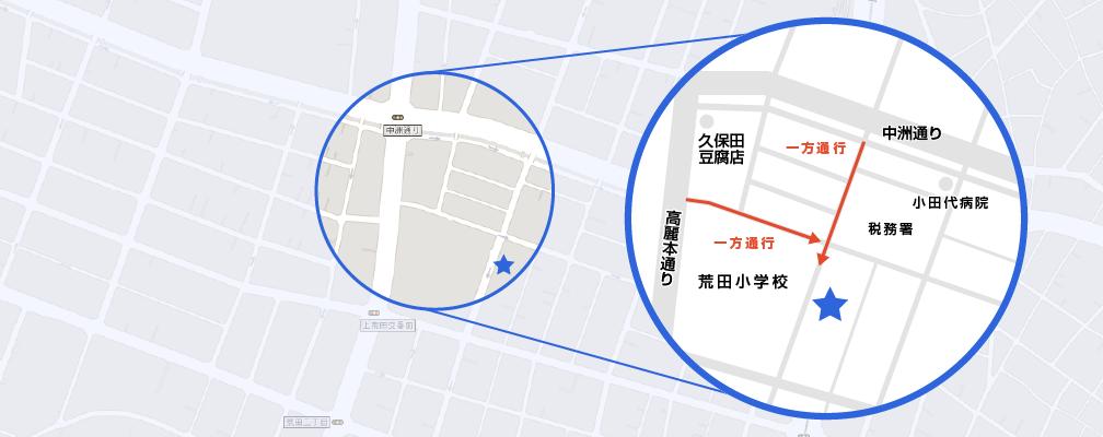 荒田店地図詳細
